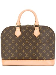 Louis Vuitton Vintage Alma Tote Brown