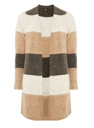 Dorothy Perkins Only Multi Coloured Striped Knit Cardigan Black