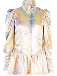 Sies Marjan Ruffle Metallic Jacket Multicolour