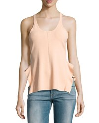 Opening Ceremony Stretch Crepe Racerback Tank Peach