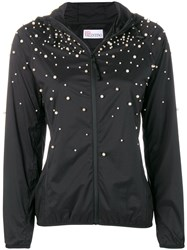 Red Valentino Faux Pearl Embellished Jacket Black