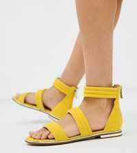 Blink Strap Flat Sandals Yellow