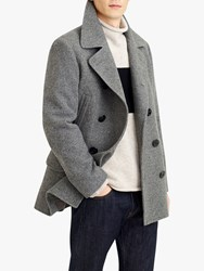 J.Crew Pea Coat Antique Pewter