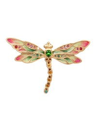 Candice Bejeweled Dragonfly Pin Jay Strongwater Multi Colors