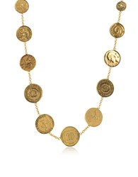 Alcozer And J Necklaces Brass Coin Necklace