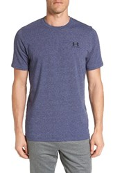Under Armour Men's 'Sportstyle' Charged Cotton Loose Fit Logo T Shirt Steel Midnight Navy