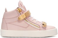 Giuseppe Zanotti Ssense Exclusive Pink London High Top Sneakers