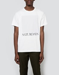 Saturdays Surf Nyc Chest Square Tee White