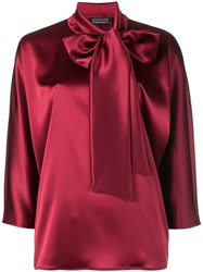 Gianluca Capannolo Bow Tie Blouse Red