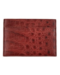 Walter Steiger Crocodile Card Holder Dark Brown