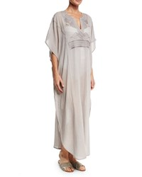 Flora Bella Athenee Embroidered Caftan Coverup Gray