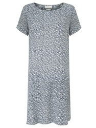 Harris Wilson Nickel Ditsy Splash Print Dress Navy