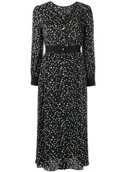 Guild Prime Star Print Satin Dress Black