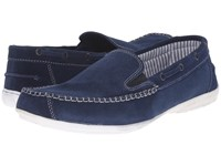 Lotus Colby Navy Suede Men's Slip On Shoes Blue