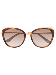 Cartier Oversized Frame Sunglasses Brown