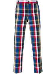 Thom Browne Gingham Tartan Cotton Suiting Unconstructed Chino Trouser Multicolour