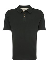 Hymn Men's Waffle Texture Polo Shirt Forest Green
