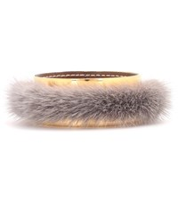 Marni Fur Trimmed Bangle Neutrals