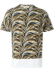Marni Abstract Print T Shirt White