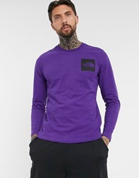 The North Face Fine Long Sleeve T Shirt In Purple