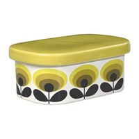 Orla Kiely 70S Oval Flower Butter Dish Yellow