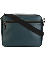 Paul Smith Front Logo Laptop Bag Blue