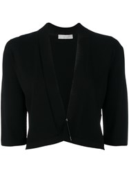 D.Exterior Cropped Cardigan Black