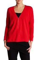 The Kooples Signature Wool Zip Sweater Red
