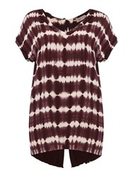 Label Lab Plus Size Tie Dye Woven Tee Wine