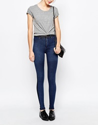 Dr. Denim Dr Denim Solitaire High Waist Jean In Colour Block Blueblock