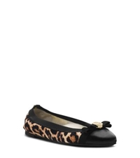 Michael Kors Dixie Cheetah Hair Calf Ballet Flat Natural