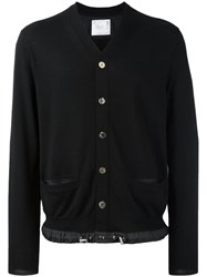 Sacai Drawstring Cardigan Black