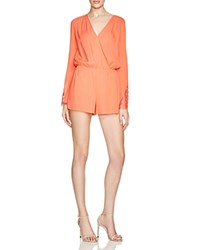 Guess Angel Lace Mix Romper Coral Punch