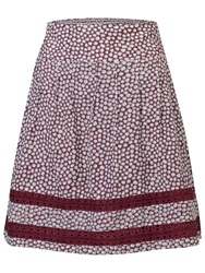 Fat Face Matilda Ditsy Flower Skirt Garnet