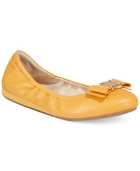 Cole Haan Tali Bow Ballet Flats Women's Shoes Yellow