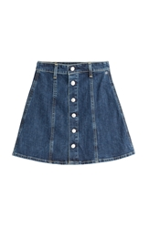 Alexa Chung For Ag Kety Denim Skirt