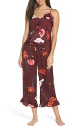 Josie Freestyle Cami Pajamas Burgundy