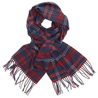 John Lewis Richmond Cashmink Check Scarf Blue Red