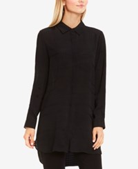 Vince Camuto Sheer High Low Tunic Rich Black