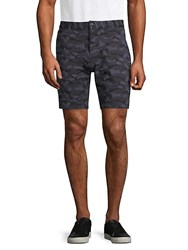 Slate And Stone Camouflage French Terry Shorts Blue Camo
