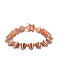 Eddie Borgo Small Cone Bracelet Rose Goldtone Dark Red