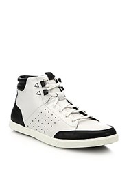 Saks Fifth Avenue Owen Leather High Top Sneakers White