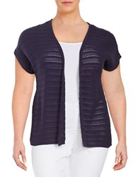 Context Plus Open Front Knit Cardigan Night Eclipse