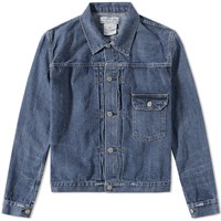 Remi Relief Washed Denim Jacket Blue