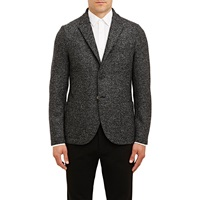 Compact Boucle Two Button Sportcoat Black
