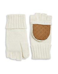 Lauren Ralph Lauren Wool Blend Convertible Mittens Cream