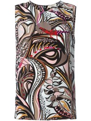 Emilio Pucci Printed Tank Top Multicolour