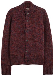 Oliver Spencer Darwin Chunky Knit Wool Jacket Red