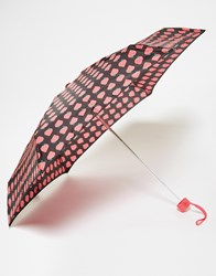 Totes Thin Umbrella In Strawberry Print Blkstrawberry