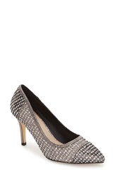 Menbur Women's Tambre Embellished Pointy Toe Pump Grey Fabric